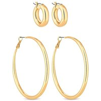 Lipsy Gold Plated Pack Of 2 Hoop Earring.