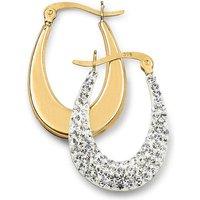 Crystal Glitz Large Creole Earrings