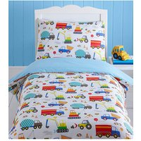 Bright Trucks Toddler Duvet Cover Set