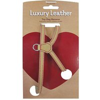 Wag N Walk Tan Leather Harness Xsmall
