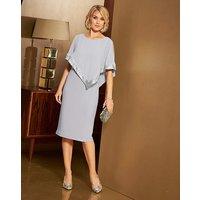 Nightingales Sequin Cape Dress