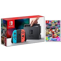Switch Console and Mario Kart 8 Deluxe.