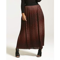 Elvi Snake Print Pleated Skirt.