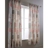 Ethel Pink Pencil Pleat Curtains