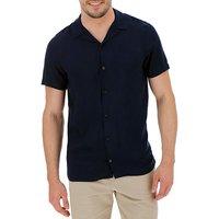 Navy Viscose S/S Shirt L.