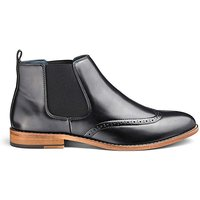 Brogue Chelsea Boots Wide Fit.