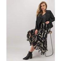 Joanna Hope Print Fluted Hem Skirt
