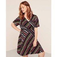 Violeta By Mango Stripe Print Dress