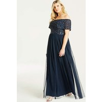Maya Curve Bardot Maxi Dress