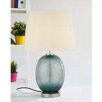Ada Teal Glass Table Lamp