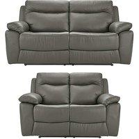 Savona Leather Recliner 3 plus 2 Sofa