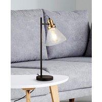 Mason Industrial Glass Table Lamp