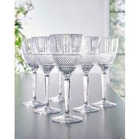 RCR Brillante Set of 6 Wine Glasses.