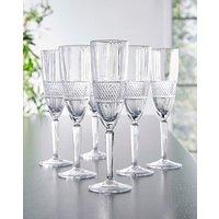 RCR Brillante Set of 6 Champagne Flutes
