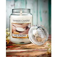 Yankee Candle Baby Powder Candle.