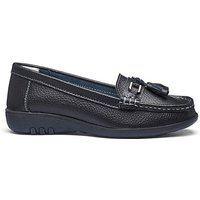 Leather Tassel Loafers E Fit