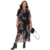 Religion Observation Floral Maxi Dress