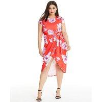 Quiz Floral Printed Wrap Dress