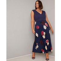 Chi Chi Floral Pleated Skirt Maxi Dress