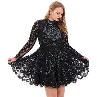 A Star Is Born Embellished Skater Dress.