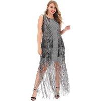 A Star Is Born Silver Studded Maxi Dress