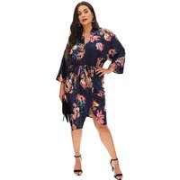 AX Paris Kimono Sleeve Midi Dress
