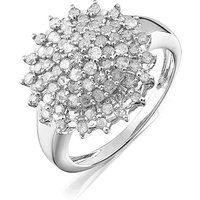 9 Carat Gold 1ct Diamond Cluster Ring