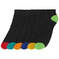 6 Pack Heel and Toe Trainer Socks.