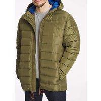 Khaki Recycled Hooded Padded Jacket.