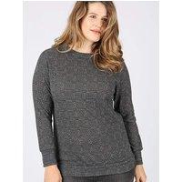 Koko grey tweed print jumper