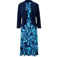 Butterfly Print Dress and Shrug L39
