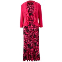 Butterfly Print Dress and Shrug L45