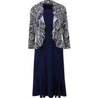Zebra Print Dress and Shrug L45