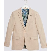 Stone Oliver Plain Regular Fit Blazer.