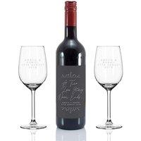 Personalised Love Story Wine Gift Set.