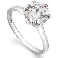 Moissanite 9 Carat Gold 1 Carat Ring
