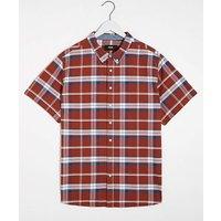 Red Check Short Sleeve Oxford Shirt