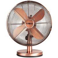 Tower 12 Copper Metal Desk Fan