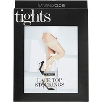 2 Pack Nat 15 Denier Lace Top Stockings