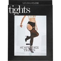 20 Denier Black Suspender Tights