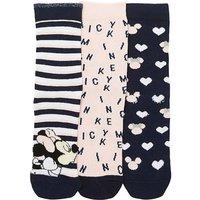 3pk Minnie And Mickey Socks