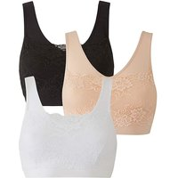3 Pack Lace Overlay Comfort Tops