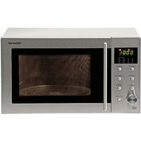 `Sharp 800W Stainless Steel Microwave.