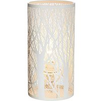 Fletcher White Metal Table Lamp