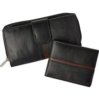 His and Hers Leather Wallet and Purse