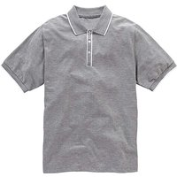 Jacamo Piped Placket Polo Regular