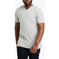 Grey Marl V-Neck T-shirt Long