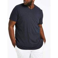 Navy V-Neck T-shirt Long