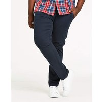 Navy Stretch Tapered Chino 33in