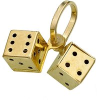 Image of 9ct Gold Dice Charm
